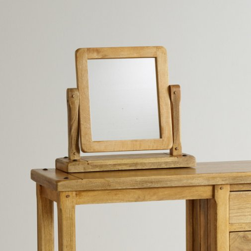 Baku Light Natural Solid Mango Dressing Table Mirror