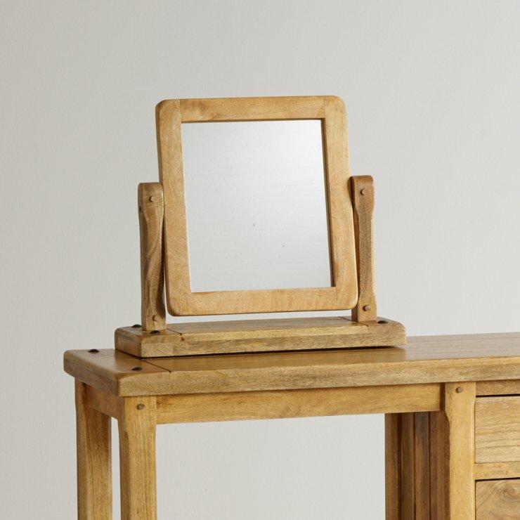 Baku Light Natural Solid Mango Dressing Table Mirror - Image 2