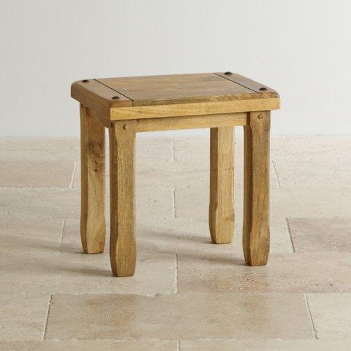Baku Light Natural Solid Mango Dressing Table Stool