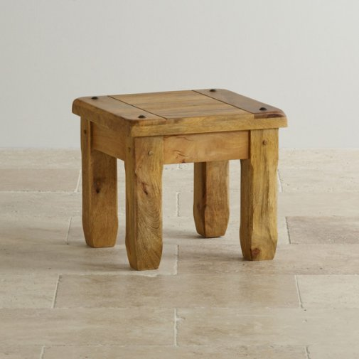 Baku Light Natural Solid Mango Side Table