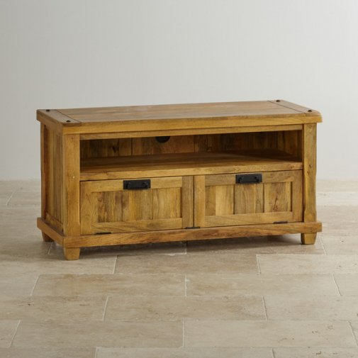 Baku Light Natural Solid Mango Large TV Cabinet