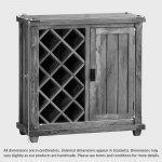 Baku Light Natural Solid Mango Wine Cabinet - Thumbnail 3