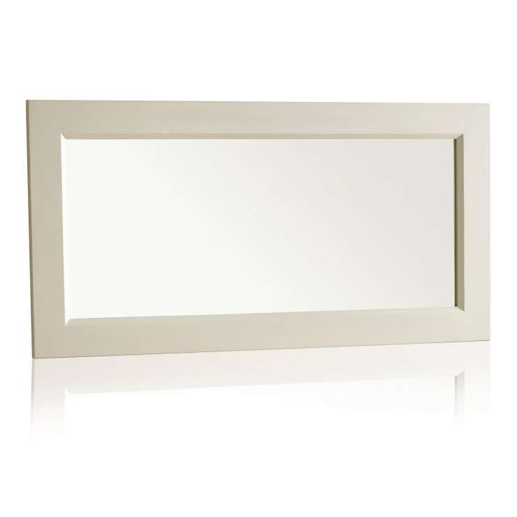 Bella Brushed Oak and Painted 1200mm x 600mm Wall Mirror - Image 4