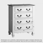 Bella Brushed Oak and Painted 4 Drawer Chest - Thumbnail 7