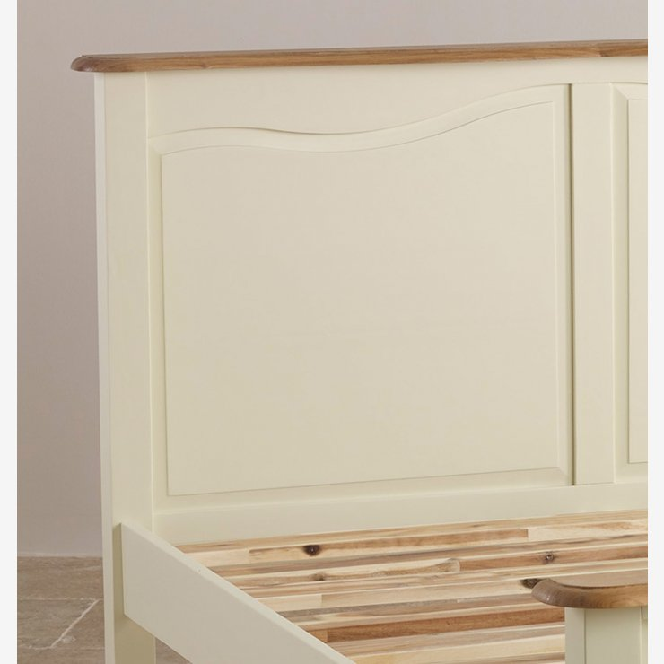 """Bella Brushed Oak and Painted 4ft 6"""" Double Bed"""