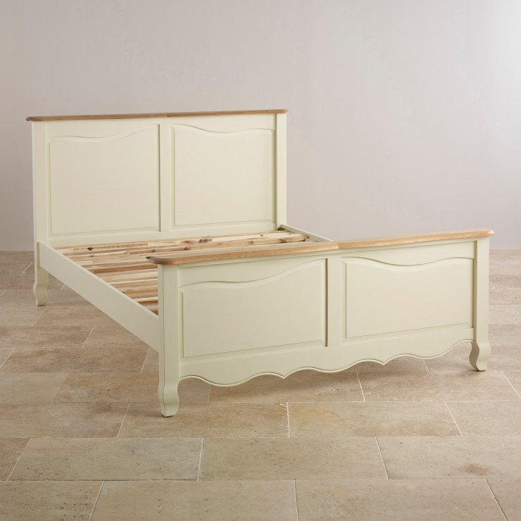 "Bella Brushed Oak and Painted 4ft 6"" Double Bed"