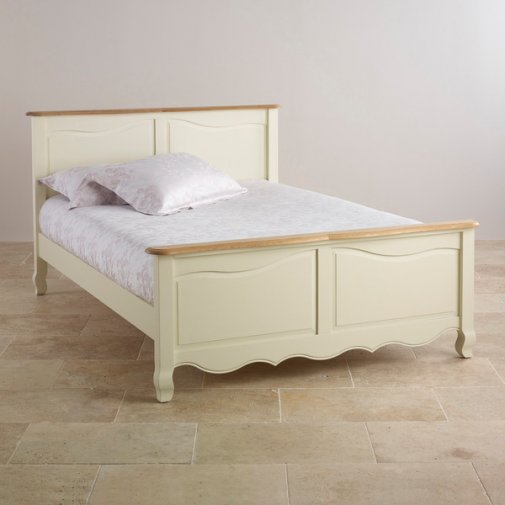Bella Brushed Oak and Painted 5ft King-Size Bed
