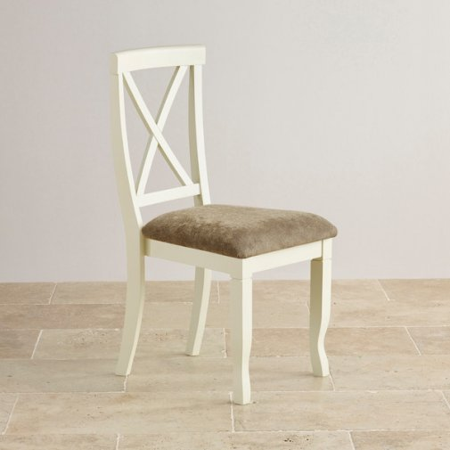 Bella Brushed Oak and Painted and Plain Sage Fabric Dining Chair