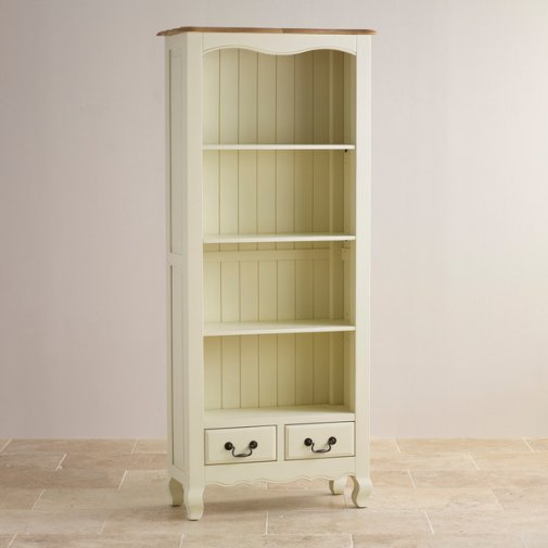 Bella Brushed Oak and Painted Tall Bookcase