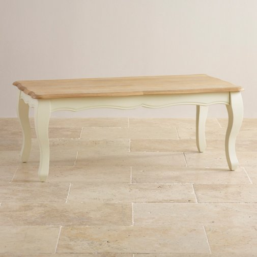 Bella Brushed Oak and Painted Coffee Table