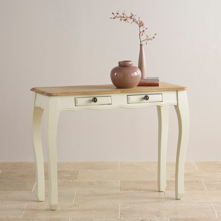 Bella Brushed Oak and Painted Console Table