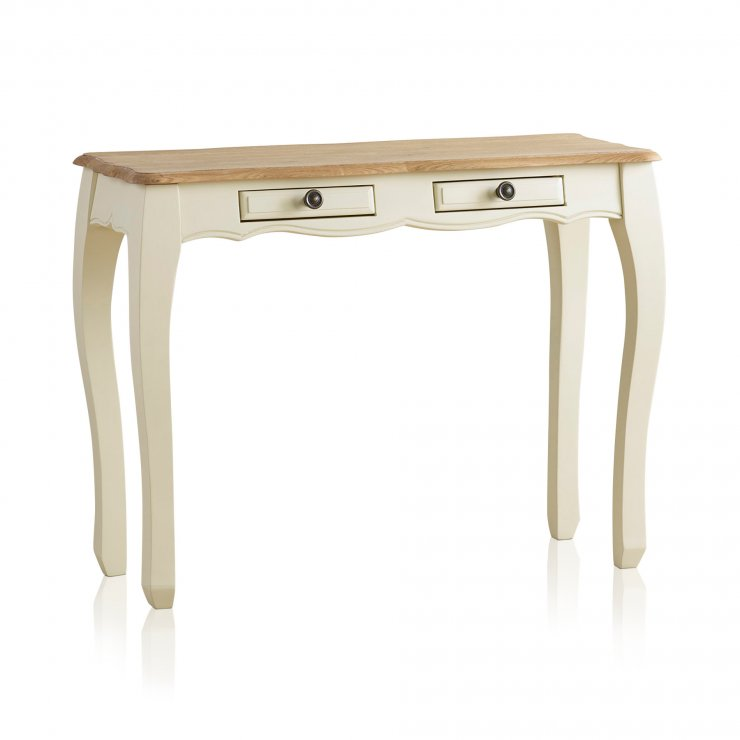 Bella Brushed Oak and Painted Console Table - Image 5
