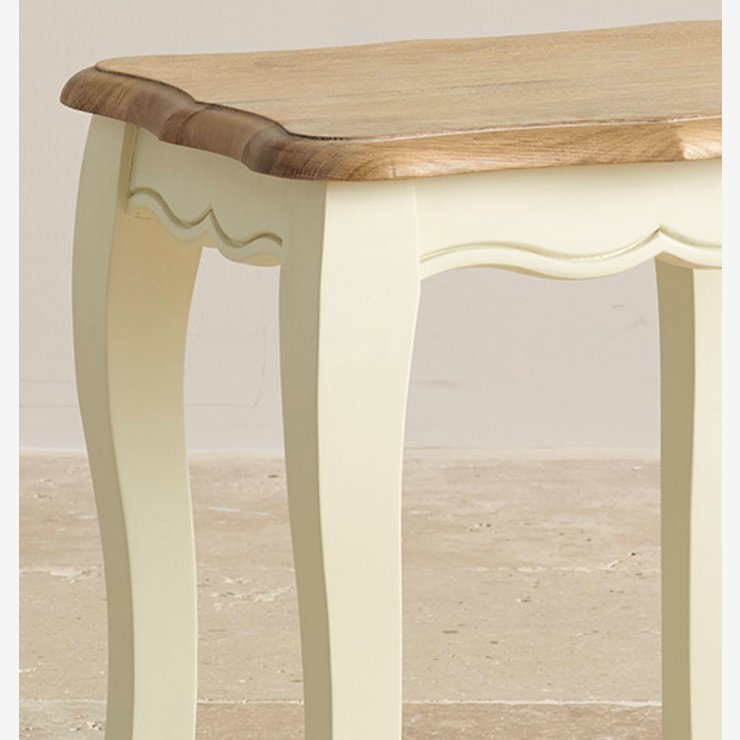 Bella Brushed Oak and Painted Dressing Stool
