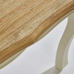 Bella Brushed Oak and Painted Dressing Stool - Thumbnail 4