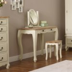 Bella Brushed Oak and Painted Dressing Table - Thumbnail 2