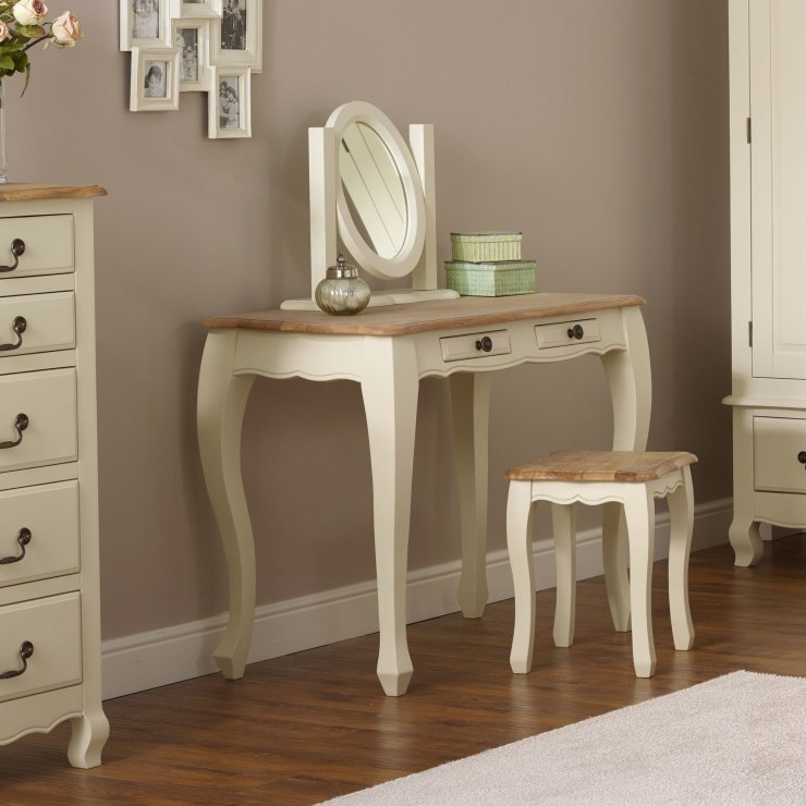 Bella Brushed Oak and Painted Dressing Table