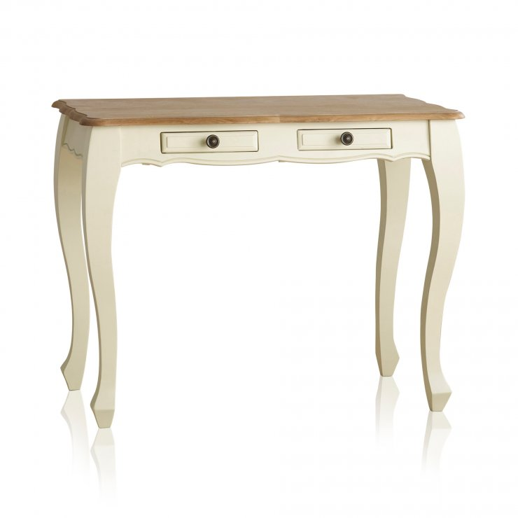 Bella Brushed Oak and Painted Dressing Table - Image 6