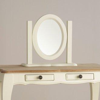 Brushed Oak Painted Dressing Table Mirror Bella Dressing Mirror