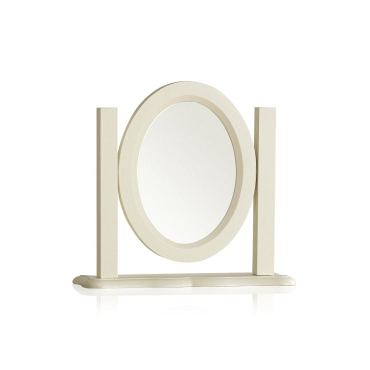 Bella Brushed Oak and Painted Dressing Table Mirror - Image 4