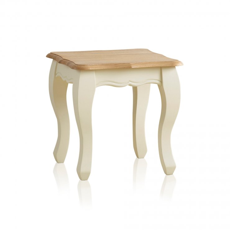 Bella Brushed Oak and Painted Lamp Table - Image 4