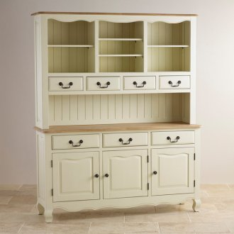 Bella Brushed Oak and Painted Large Dresser