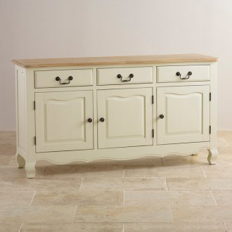 Bella Brushed Oak and Painted Large Sideboard