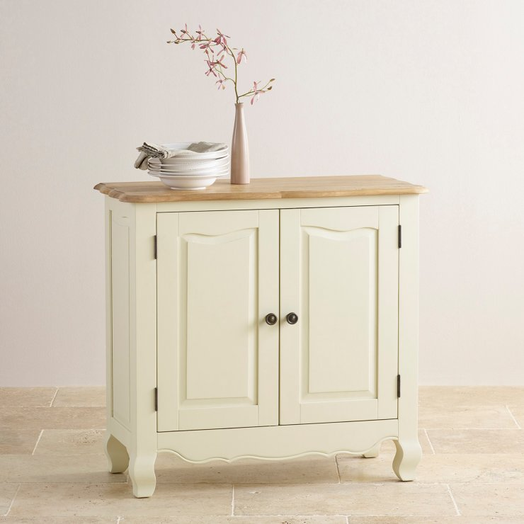 Bella Brushed Oak and Painted Small Sideboard