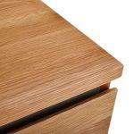 Boston Natural Solid Oak and Metal 5 Drawer Tallboy - Thumbnail 6