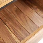 Boston Natural Solid Oak and Metal 5 Drawer Tallboy - Thumbnail 5