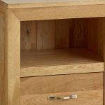 Bevel Natural Solid Oak Bedside Table - Thumbnail 3