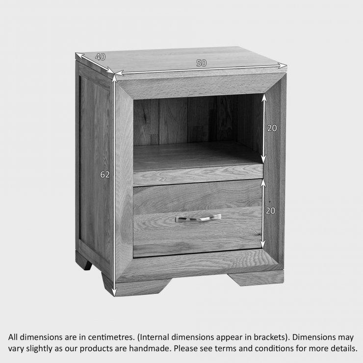 Bevel Natural Solid Oak Bedside Table
