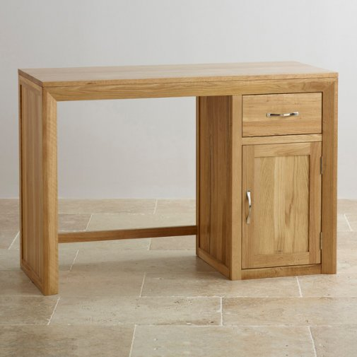 Bevel Natural Solid Oak Computer Desk