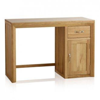 Bevel Natural Solid Oak Computer Desk