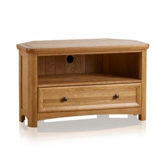 Wiltshire Natural Solid Oak Corner TV Unit