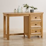 Wiltshire Natural Solid Oak Dressing Table - Thumbnail 3