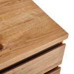 Boston Natural Solid Oak and Metal Dressing Table - Thumbnail 5