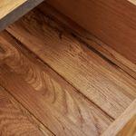 Boston Natural Solid Oak and Metal Dressing Table - Thumbnail 4