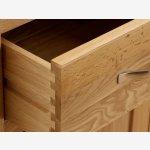 Bevel Natural Solid Oak Glazed Display Cabinet - Thumbnail 7