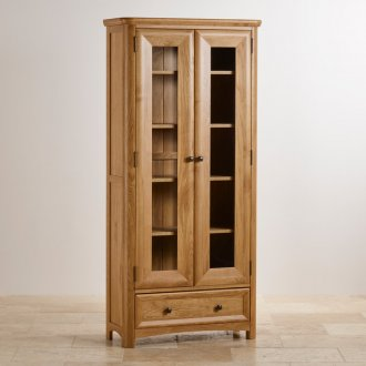 Wiltshire Natural Solid Oak Display Cabinet