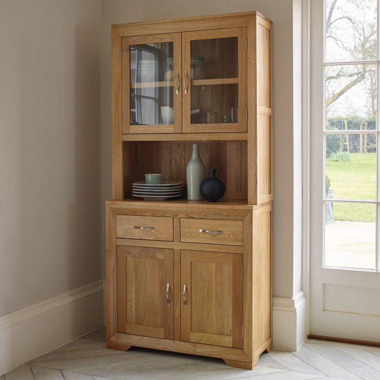 Bevel Natural Solid Oak Small Dresser