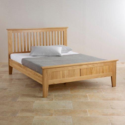 Bevel Natural Solid Oak 5ft King-Size Bed