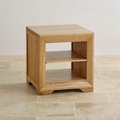 Bevel Natural Solid Oak Lamp Table