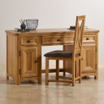 Wiltshire Natural Solid Oak Computer Desk - Thumbnail 4