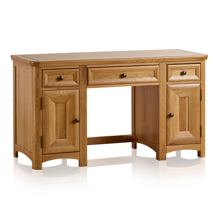 Wiltshire Natural Solid Oak Computer Desk - Image 5