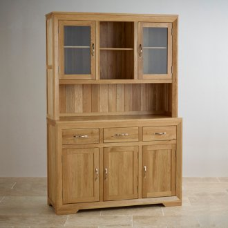 Bevel Natural Solid Oak Large Dresser