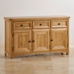 Wiltshire Natural Solid Oak Large Sideboard - Thumbnail 2
