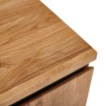 Boston Natural Solid Oak and Metal Large Sideboard - Thumbnail 5