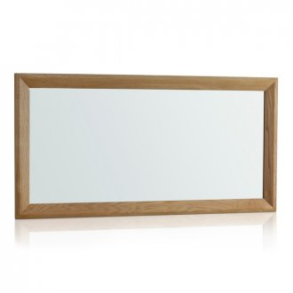 Bevel Natural Solid Oak 1200mm x 600mm Wall Mirror