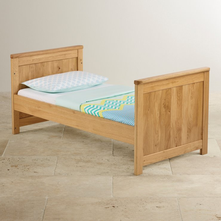 Bevel Natural Solid Oak 3 in 1 Cot Bed