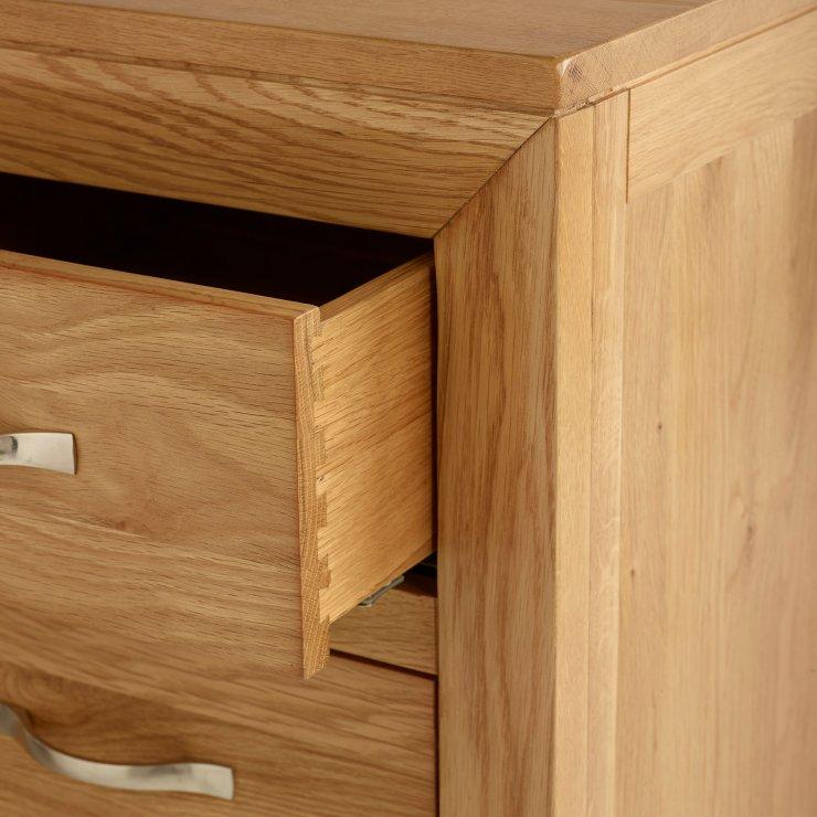 Bevel Natural Solid Oak Soft Close 3+2 Drawer Chest